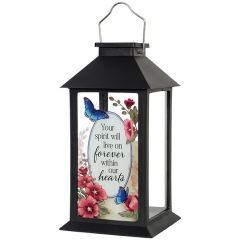 Carson Home Accents Solar Lantern - Your Spirit Will Live On Forever Within Our Hearts