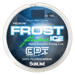 Clam Frost Ice Fluorocarbon Fishing Line - Clear - 50 Yards