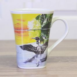 Ollee Bee Color Changing Porcelain Story Mug - Peaceful Loon