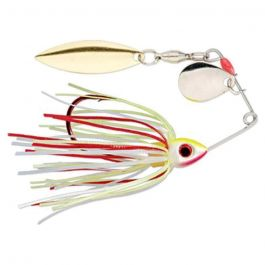 Strike King Bleeding Bait Mini-King Spinnerbait BBMK-303SG Bleeding Chartreuse White