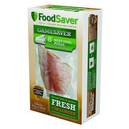"Food Saver Game Saver 2 Pack, 8""x20' Long Rolls"