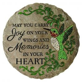 Carson Beadworks Garden Stone Carry Joy On Your Wings and Memories in Your Heart