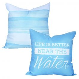 Carson Outdoor Pillow Life is Better Near The Water
