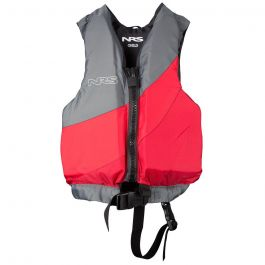 NRS Child Crew Life Jacket Red/Gray 30-50lbs