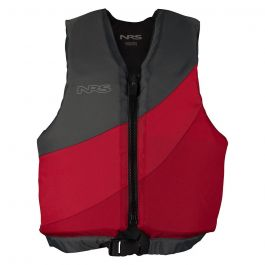 NRS Youth Crew Life Jacket Red/Gray 50-90lbs