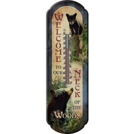 Rivers Edge Bear Welcome Tin Thermometer