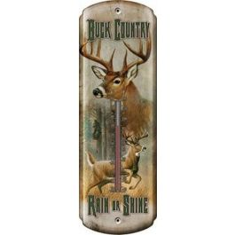 Rivers Edge Buck Country Tin Thermometer
