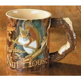 Wild Wings This Place is a Nut House - Squirrel Mug