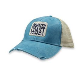 Unsalted Coast Men's UC Logo Patch Trucker Cap Turquoise One Size