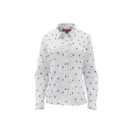 Simms Women's Isle LS Shirt White Fly All Over XL