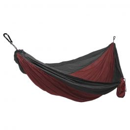 Grand Trunk Double Parachute Hammock Crimson/Charcoal OS