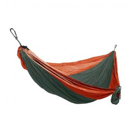 Grand Trunk Double Parachute Nylon Hammock Green/Red OS