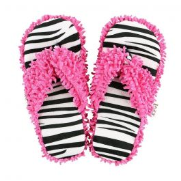 Lazy One Women's Zebra Slipper Pink Zebra L/XL