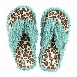 Lazy One Women's Cheetah Slipper Blue Cheetah L/XL