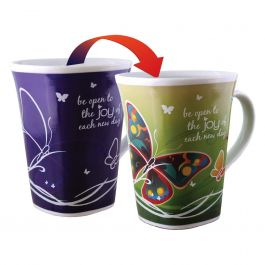 Ollee Bee Color Changing Porcelain Story Mug - Joy