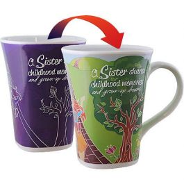 Ollee Bee Color Changing Porcelain Story Mug - Sister
