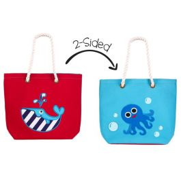 Flapjackkids 2-Sided Kids Tote Whale & Blue Octopus