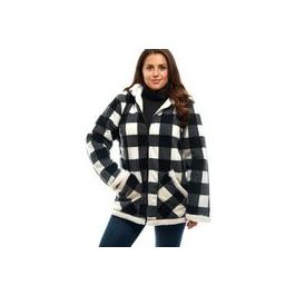 Trail Crest Full Zip Sherpa Lined Jacket White Plaid