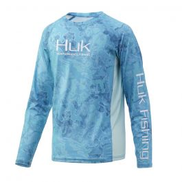 Huk Youth Pursuit Camo Vented Long Sleeve Shirt
