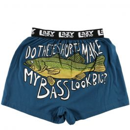 Lazy One Do These Make My Bass Look Big Boxers, Blue