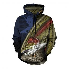 One Last Cast Chasing Bows Fishing Hoodie - Rainbow Trout