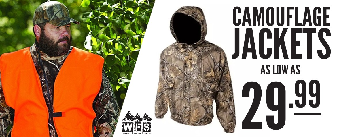 World Famous Camo Jacket Banner